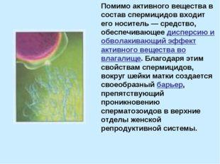 Помимо активного вещества в состав спермицидов входит его носитель — средство