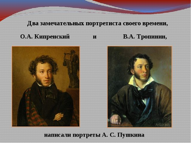 Два замечательных портретиста своего времени, О.А. Кипренский В.А. Тропинин,...