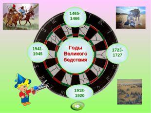 1465-1466 Годы Великого бедствия 1918-1920 1723-1727 1941-1945