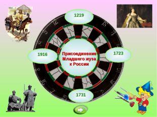 1219 Присоединение Младшего жуза к России 1731 1723 1916