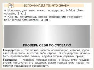 ПРОВЕРЬ СЕБЯ ПО СЛОВАРЮ Этап актуализации.