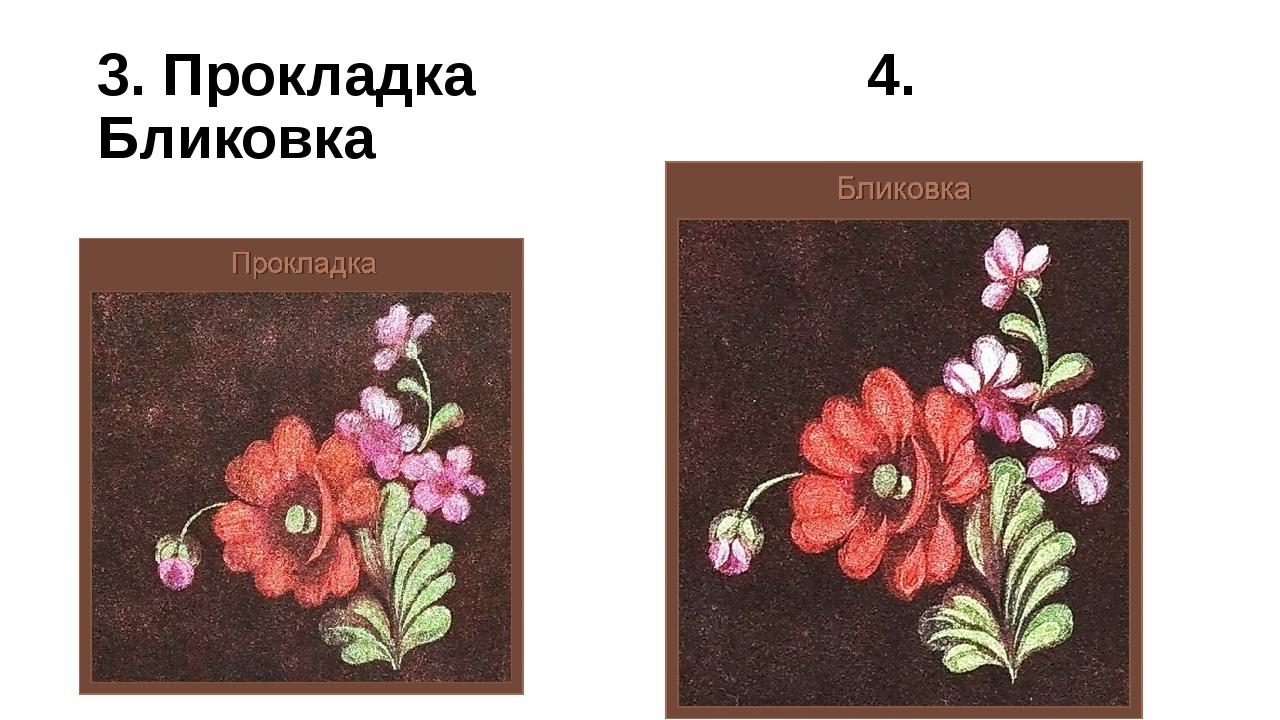 3. Прокладка 4. Бликовка