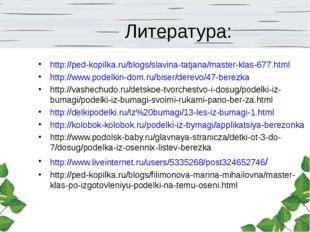 Литература: http://ped-kopilka.ru/blogs/slavina-tatjana/master-klas-677.html