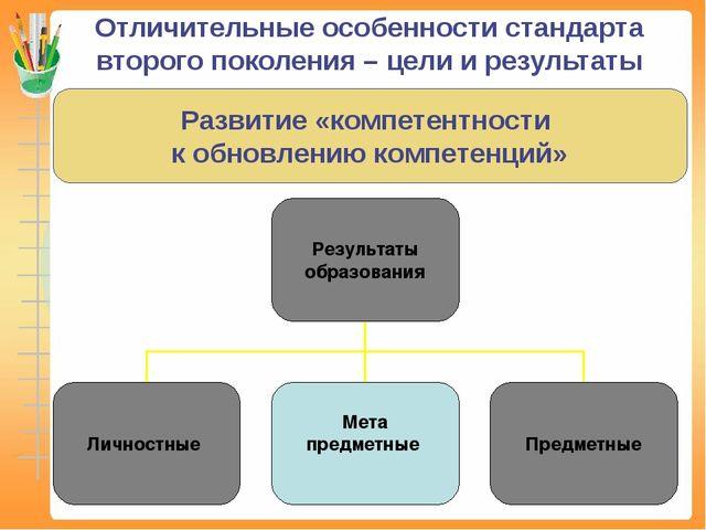 Отличительные особенности стандарта второго поколения – цели и результаты Ра...