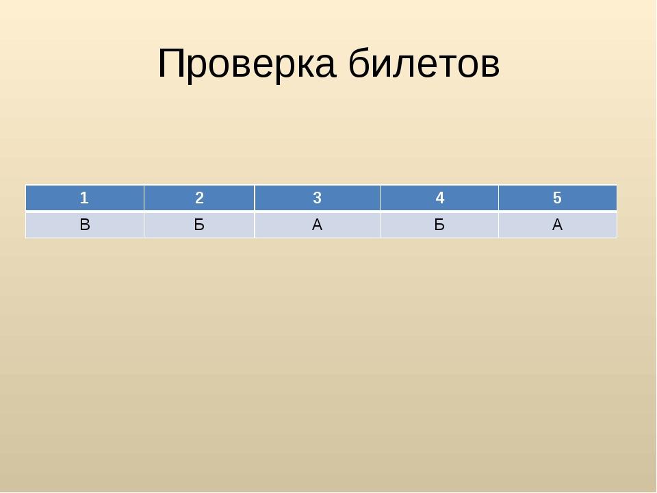 Проверка билетов 12345 ВБАБА