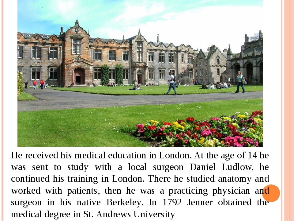 He received his medical education in London. At the age of 14 he was sent to...