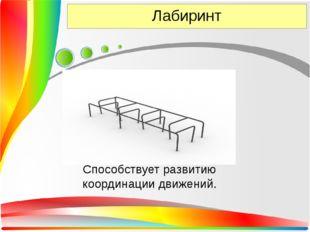 Лабиринт Способствует развитию координации движений.
