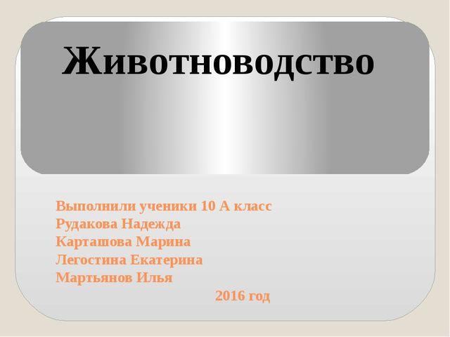 Выполнили ученики 10 А класс Рудакова Надежда Карташова Марина Легостина Екат...