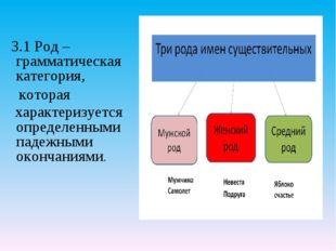 3.1 Род – грамматическая категория, которая характеризуется определенными па