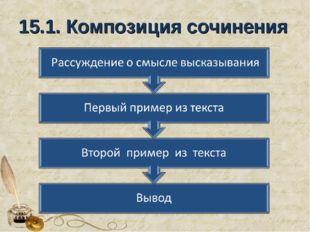 15.1. Композиция сочинения