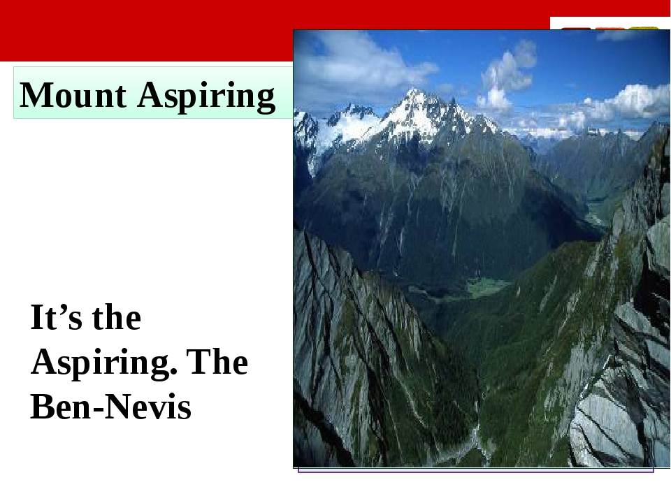 Mount Aspiring It's the Aspiring. The Ben-Nevis