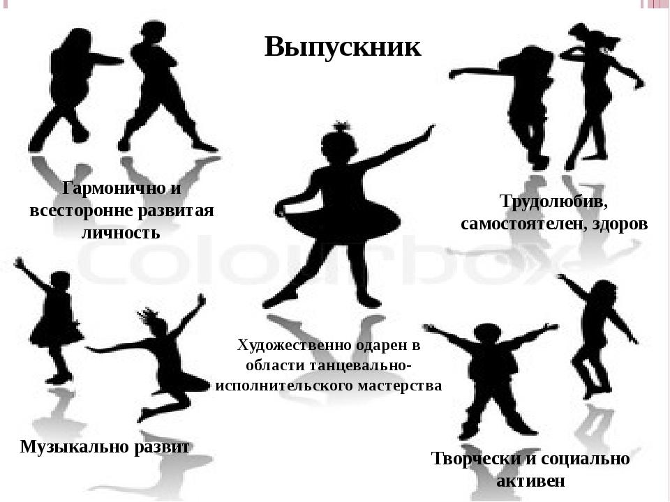 Выпускник Гармонично и всесторонне развитая личность Музыкально развит Творче...