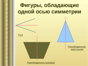 Фигуры, обладающие одной осью симметрии Равнобедренная трапеция Равнобедренны