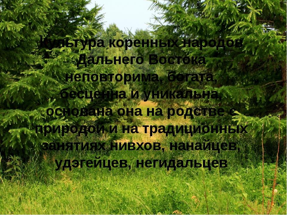 Культура коренных народов Дальнего Востока неповторима, богата, бесценна и ун...