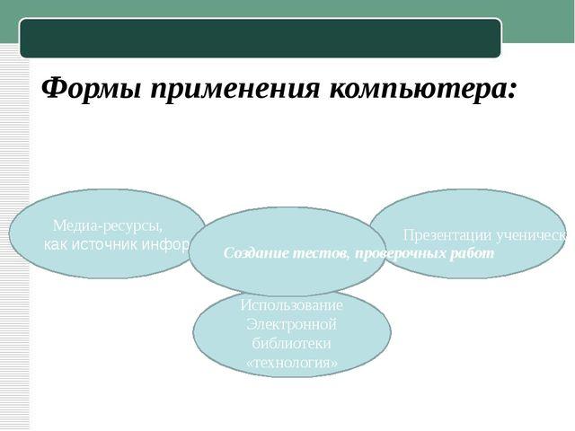 Использование Электронной библиотеки «технология» Презентации ученических раб...