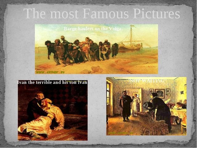 The most Famous Pictures Barge haulers on the Volga Ivan the terrible and his...