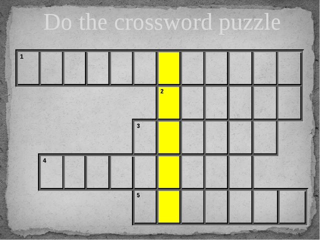 Do the crossword puzzle