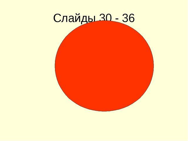 Слайды 30 - 36