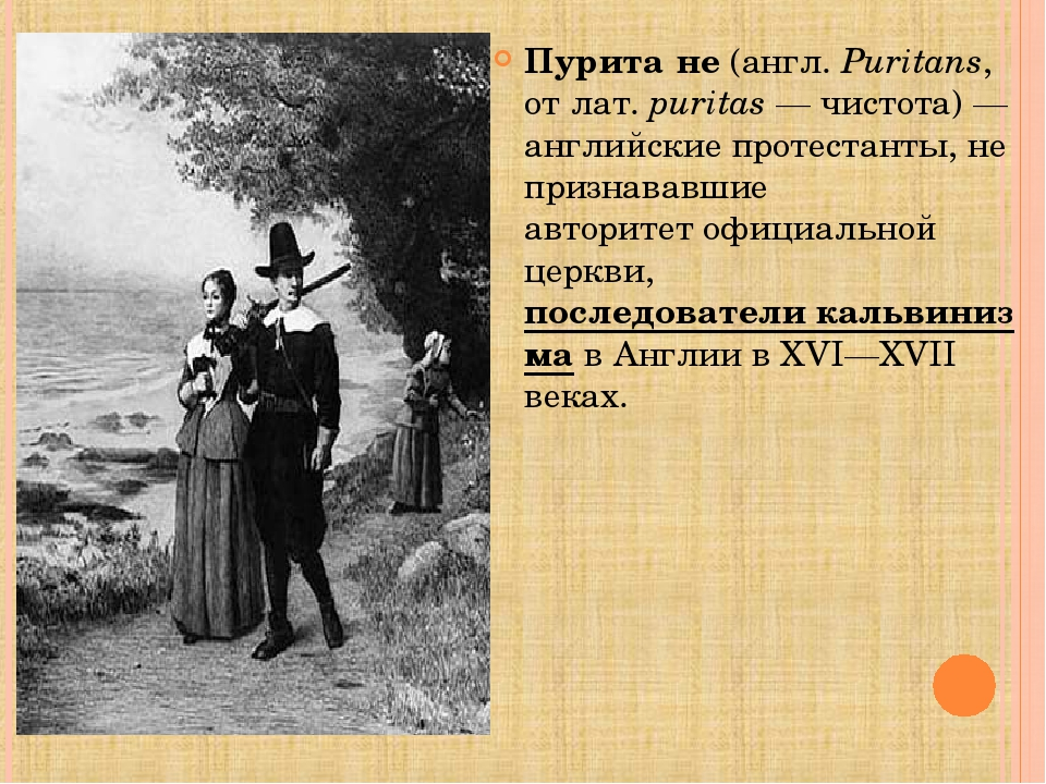 Пурита́не(англ.Puritans, отлат.puritas— чистота)— английскиепротестант...