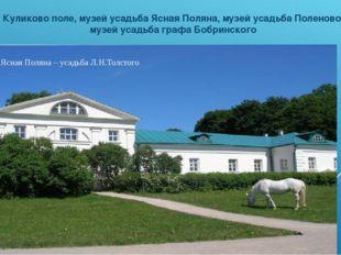 Дворец графа Бобринского в г. Богородицке Куликово поле, музей усадьба Ясная