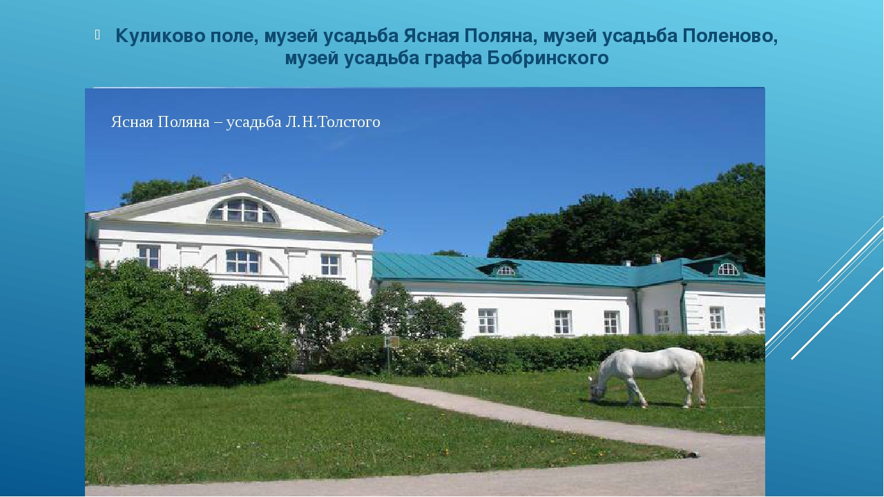 Дворец графа Бобринского в г. Богородицке Куликово поле, музей усадьба Ясная...