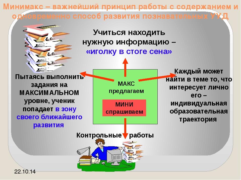 Минимакс – важнейший принцип работы с содержанием и одновременно способ разви...