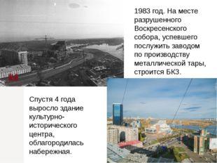 1983 год. На месте разрушенного Воскресенского собора, успевшего послужить за