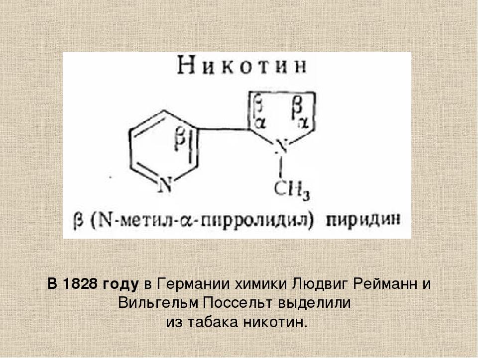В 1828 году в Германии химики Людвиг Рейманн и Вильгельм Поссельт выделили и...
