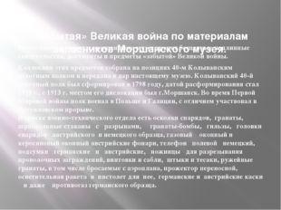 «Забытая» Великая война по материалам запасников Моршанского музея. Богатейш