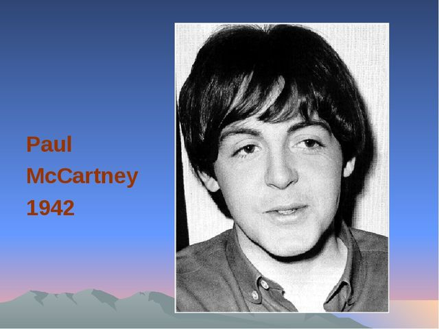Paul McCartney 1942