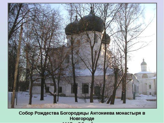 Собор Рождества Богородицы Антониева монастыря в Новгороде 1117 г. Общий вид