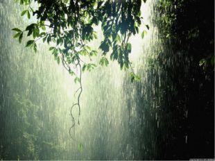 Летели к земле дождевые капли.
