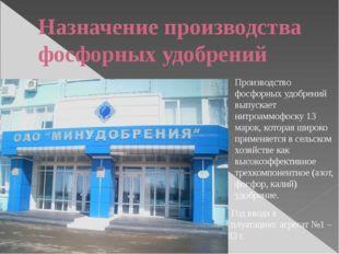 Назначение производства фосфорных удобрений Производство фосфорных удобрений