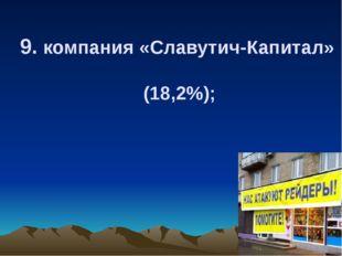 9. компания «Славутич-Капитал» (18,2%);