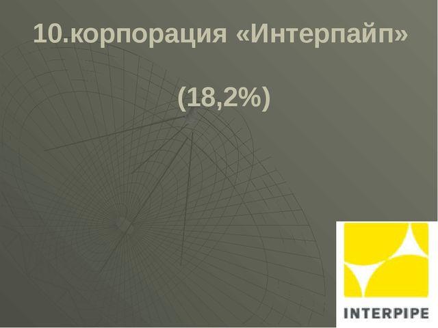 10.корпорация «Интерпайп» (18,2%)