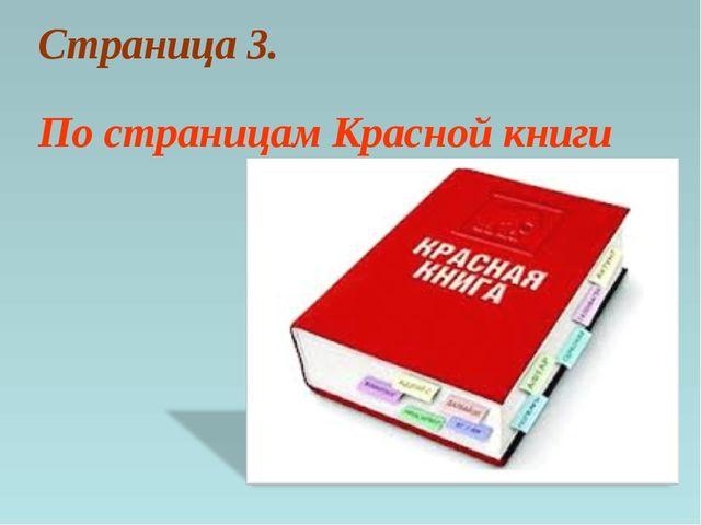 Страница 3. По страницам Красной книги