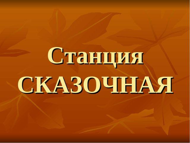 Станция СКАЗОЧНАЯ