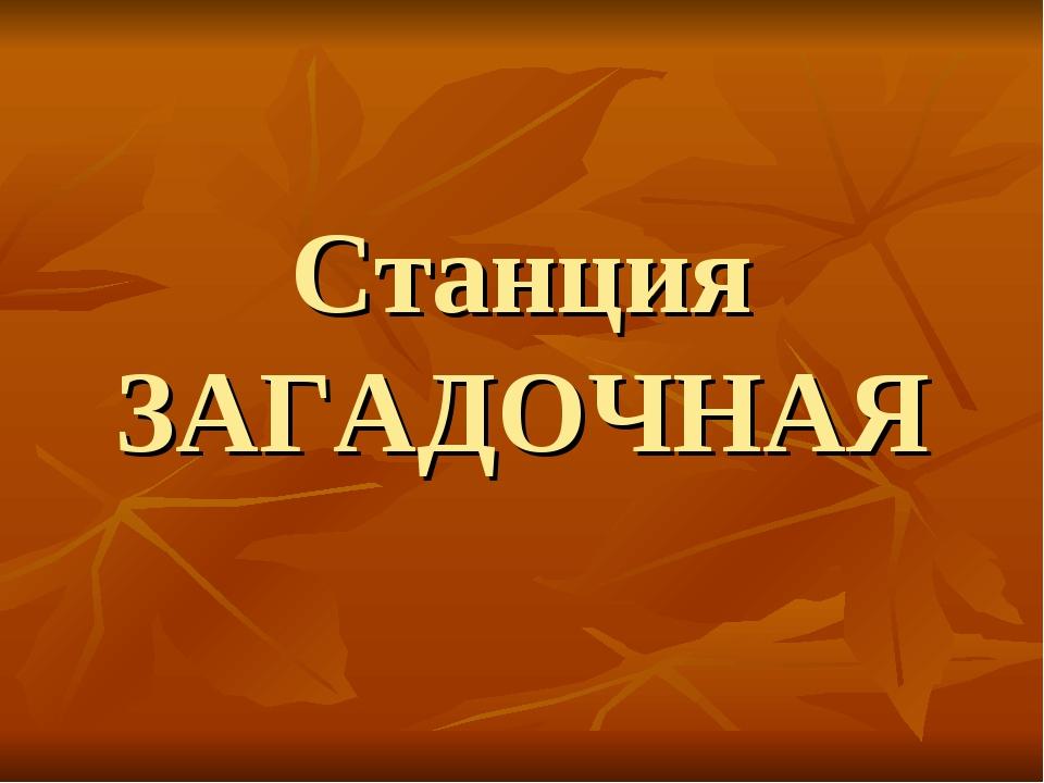 Станция ЗАГАДОЧНАЯ