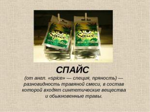 СПАЙС (от англ. «spice» — специя, пряность) — разновидность травяной смеси, в