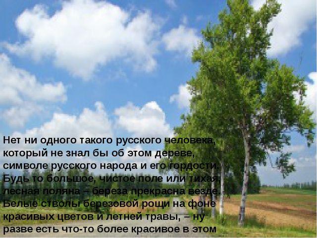 Нет ни одного такого русского человека, который не знал бы об этом дереве, си...