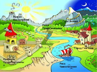 Город Глаголов Гора Знаний Крепость Существительных Вулкан Местоимений Роща П
