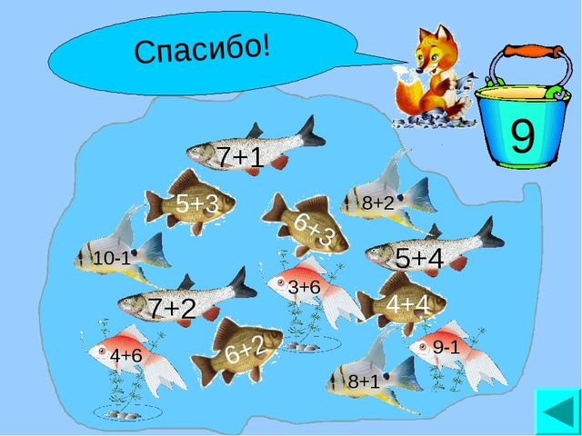 Поймай рыбку! 9 Спасибо!