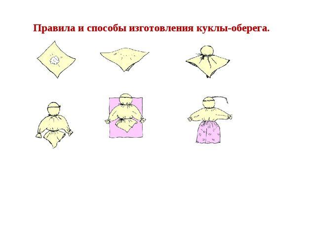 Правила и способы изготовления куклы-оберега.