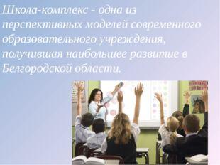 Школа-комплекс - одна из перспективных моделей современного образовательного