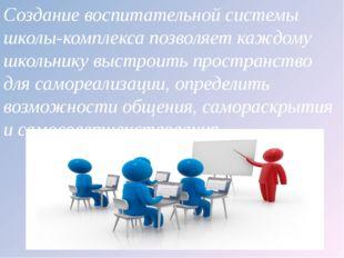 Создание воспитательной системы школы-комплекса позволяет каждому школьнику в