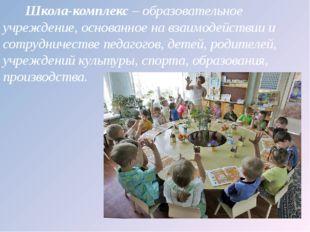 Школа-комплекс – образовательное учреждение, основанное на взаимодействии и