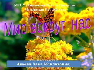 МБОУ «Гимназия №4» г. Грозного, Чеченская Республика Презентацию подготовила