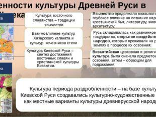 Особенности культуры Древней Руси в X – XIII веках: Культура Киевской Руси –