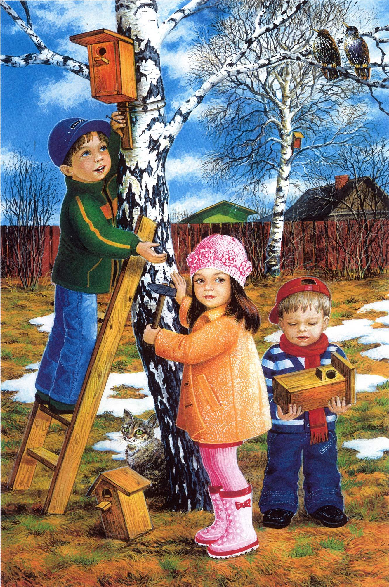 Картинки весна детский сад