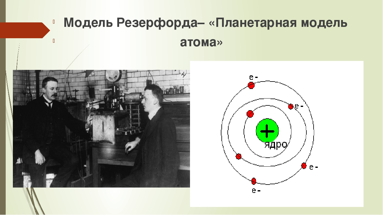 Модель Резерфорда– «Планетарная модель атома»